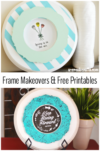Frame Makeovers & Free Printable (U Create)