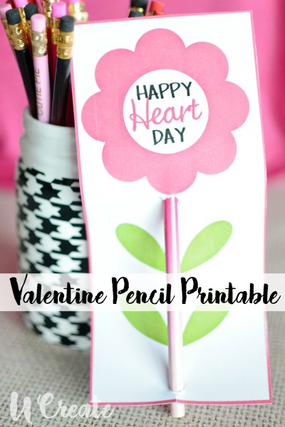picture relating to Pencil Valentine Printable titled Valentine Pencil Printable - U Acquire