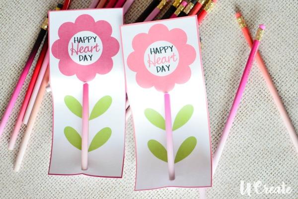 Valentine Pencil Printable