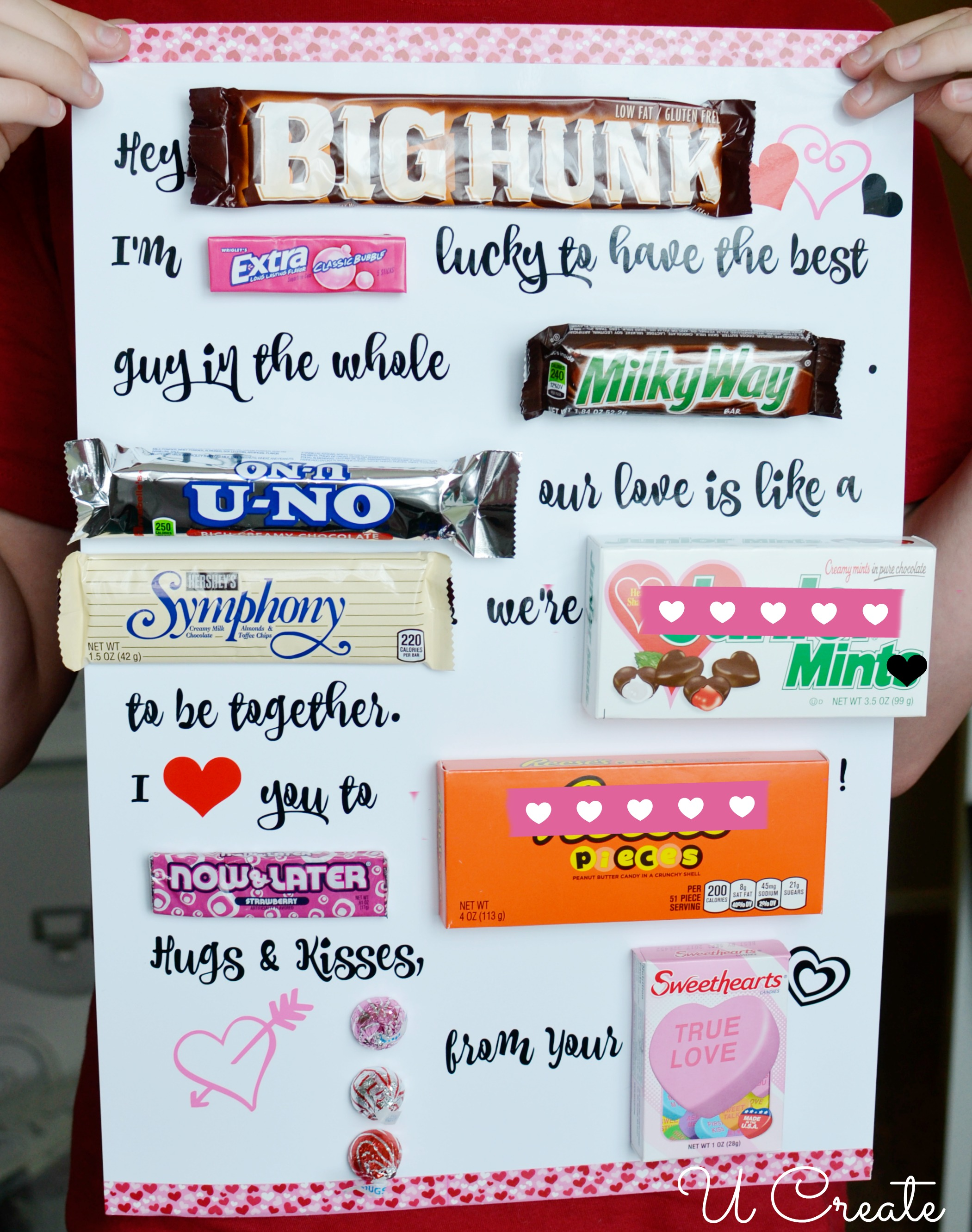 Valentine Printable Candy Poster by U Create