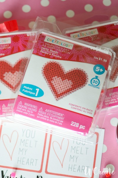 Valentine melty beads from Michaels