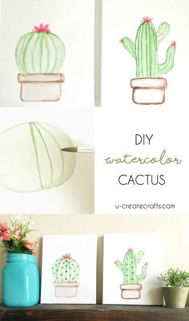 DIY Cactus Canvas by U Create