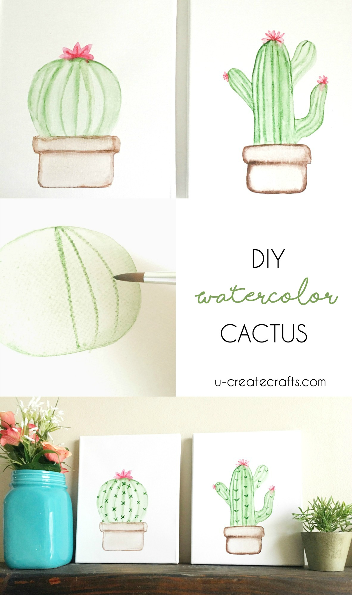 DIY Cactus Canvas by U Create