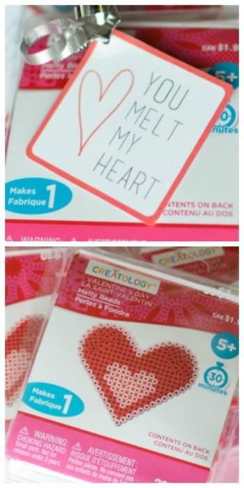 Melt My Heart Valentine printable for Perler Beads