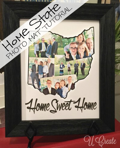 A Home State Picture Frame Mat at u-createcrafts.com