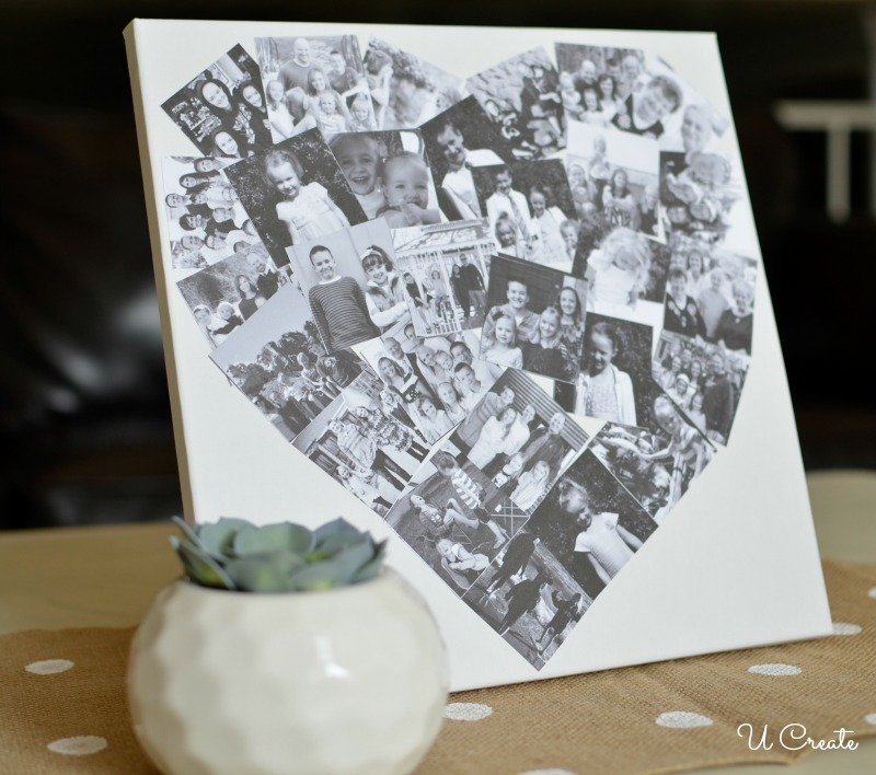 Collage Heart Canvas Tutorial by U Create