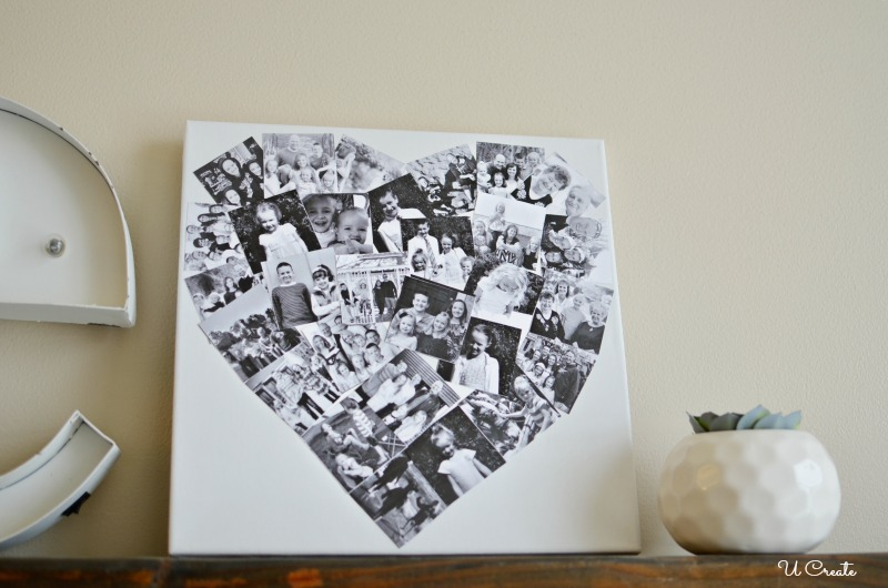 DIY Heart Photo Collage by U Create