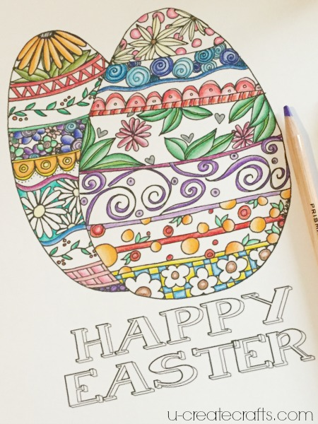 Easter coloring page at u-createcrafts.com