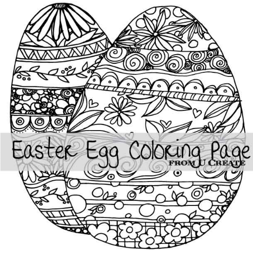 Easter Egg Coloring Page - U Create