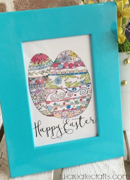 Happy Easter Egg Printable at u-createcrafts.com