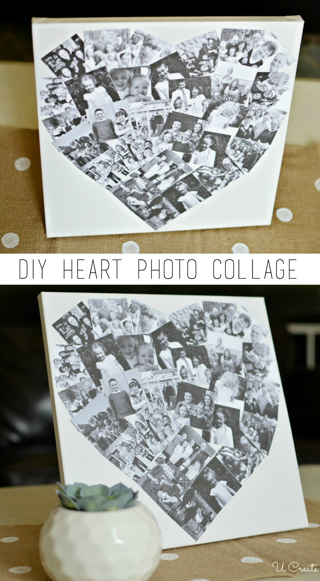 DIY Heart Photo Collage - U Create