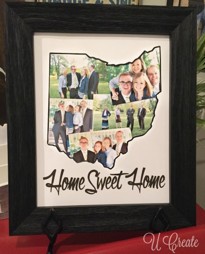 Home State Picture Frame Mat at u-createcrafts.com