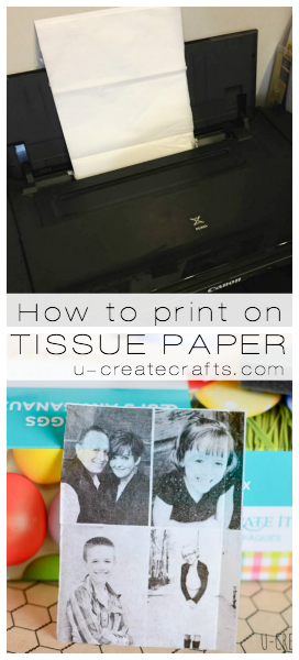 How to print on tissue paper u-createcrafts.com
