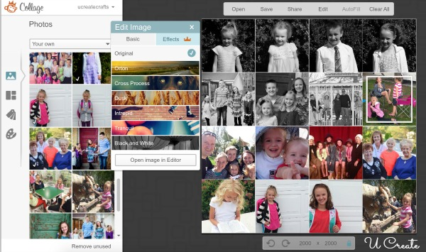 diy heart photo collage u create