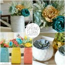DIY Spring Floral Arrangements by U Create