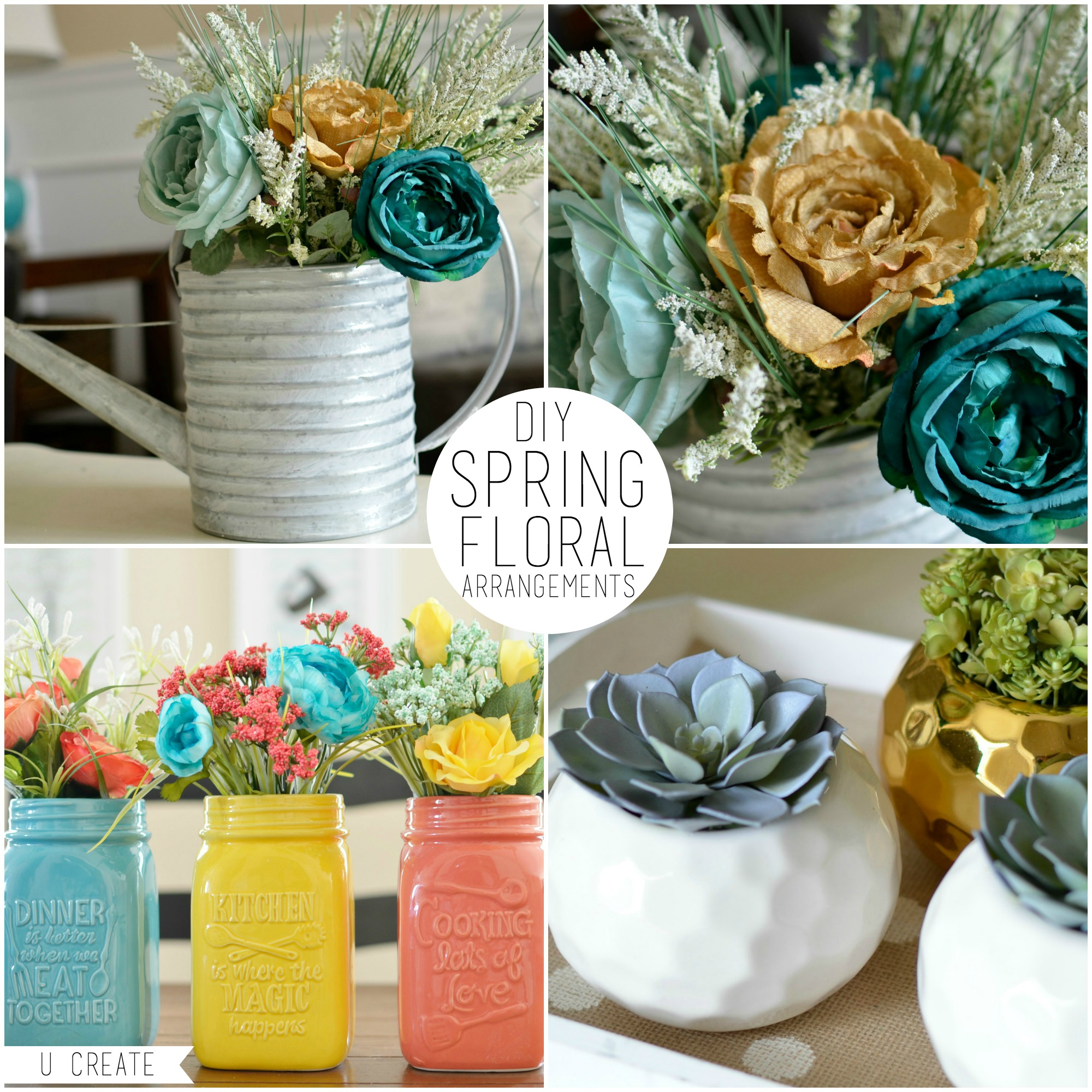 How To Make Floral Arrangements diy spring floral arrangements - u create