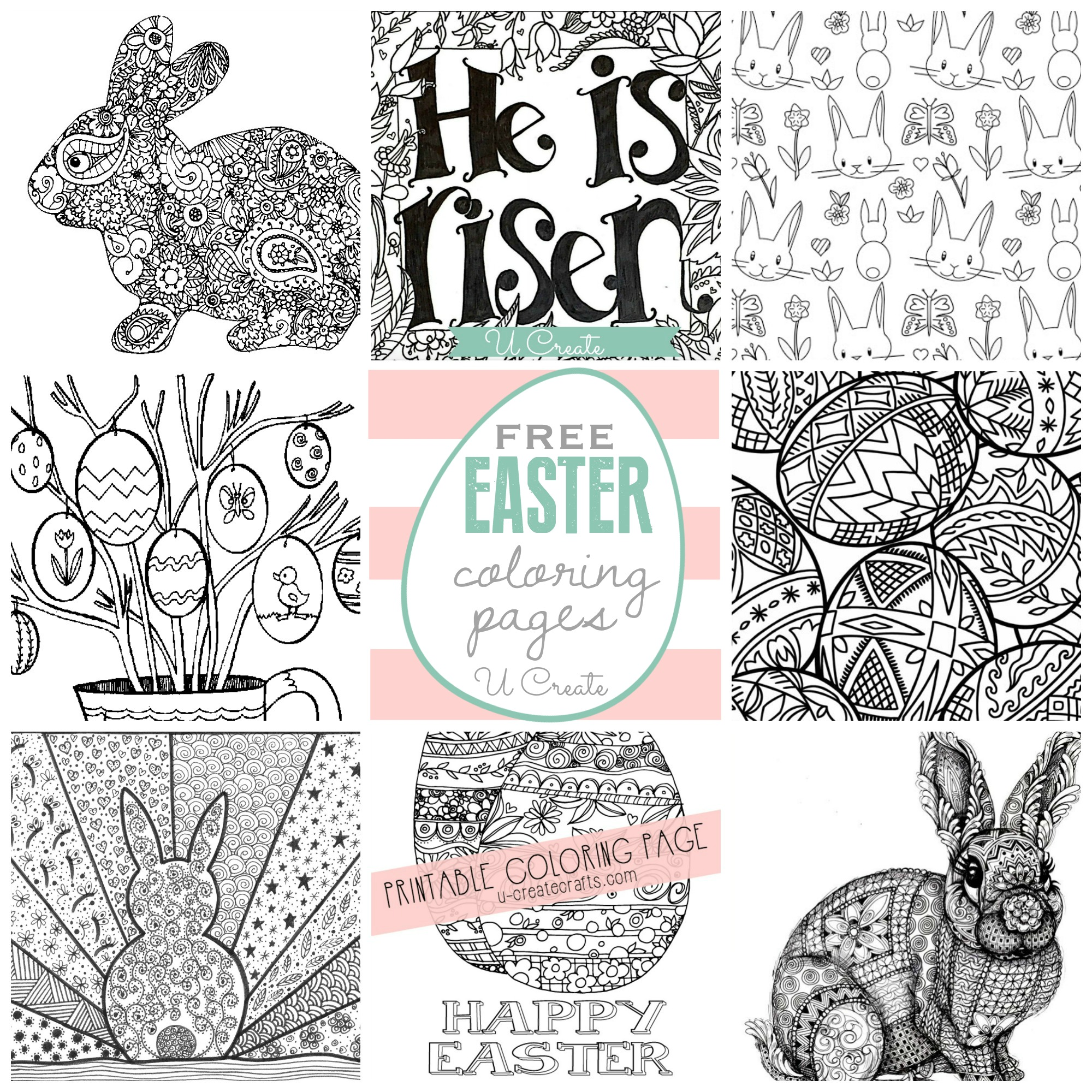 Easy easter coloring pages – Lingvowiki.info | 2000x2000