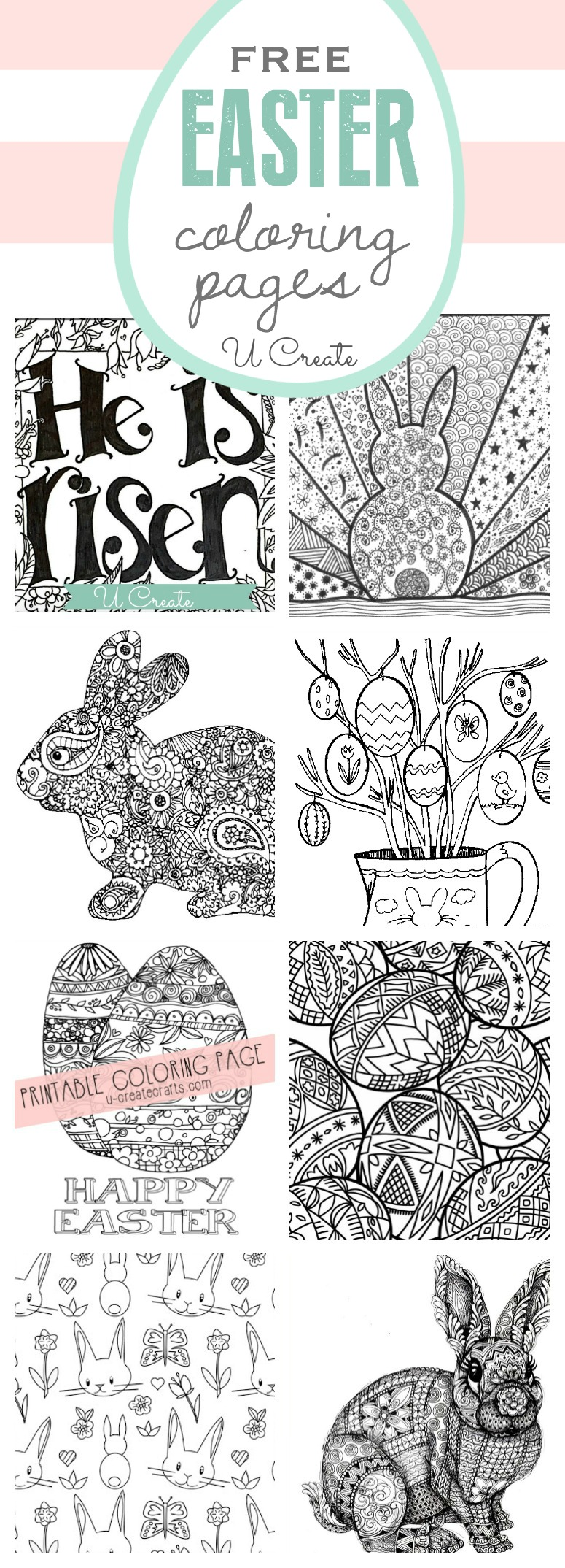 Free Easter Coloring Pages - U Create