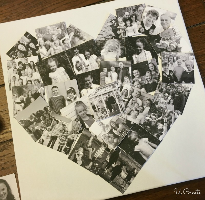 Heart Collage Canvas Tutorial by U Create