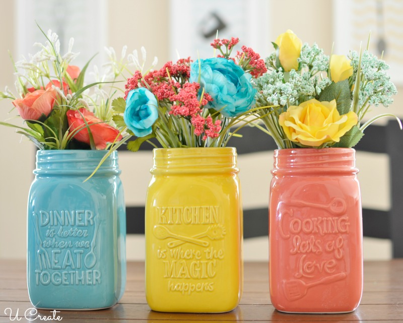 Kitchen Mason Jar Centerpiece By U Create