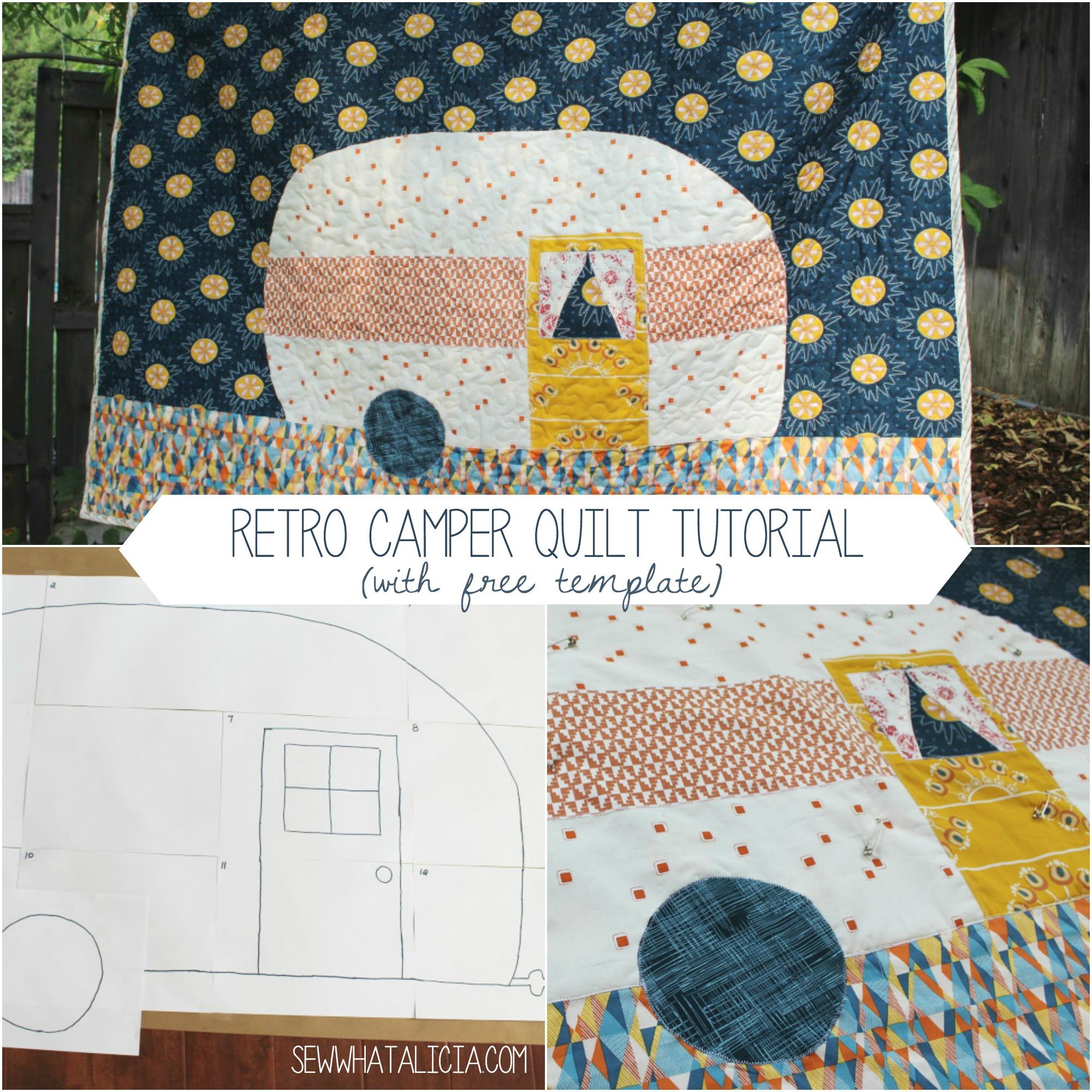 Retro Camper Quilt Tutorial U Create