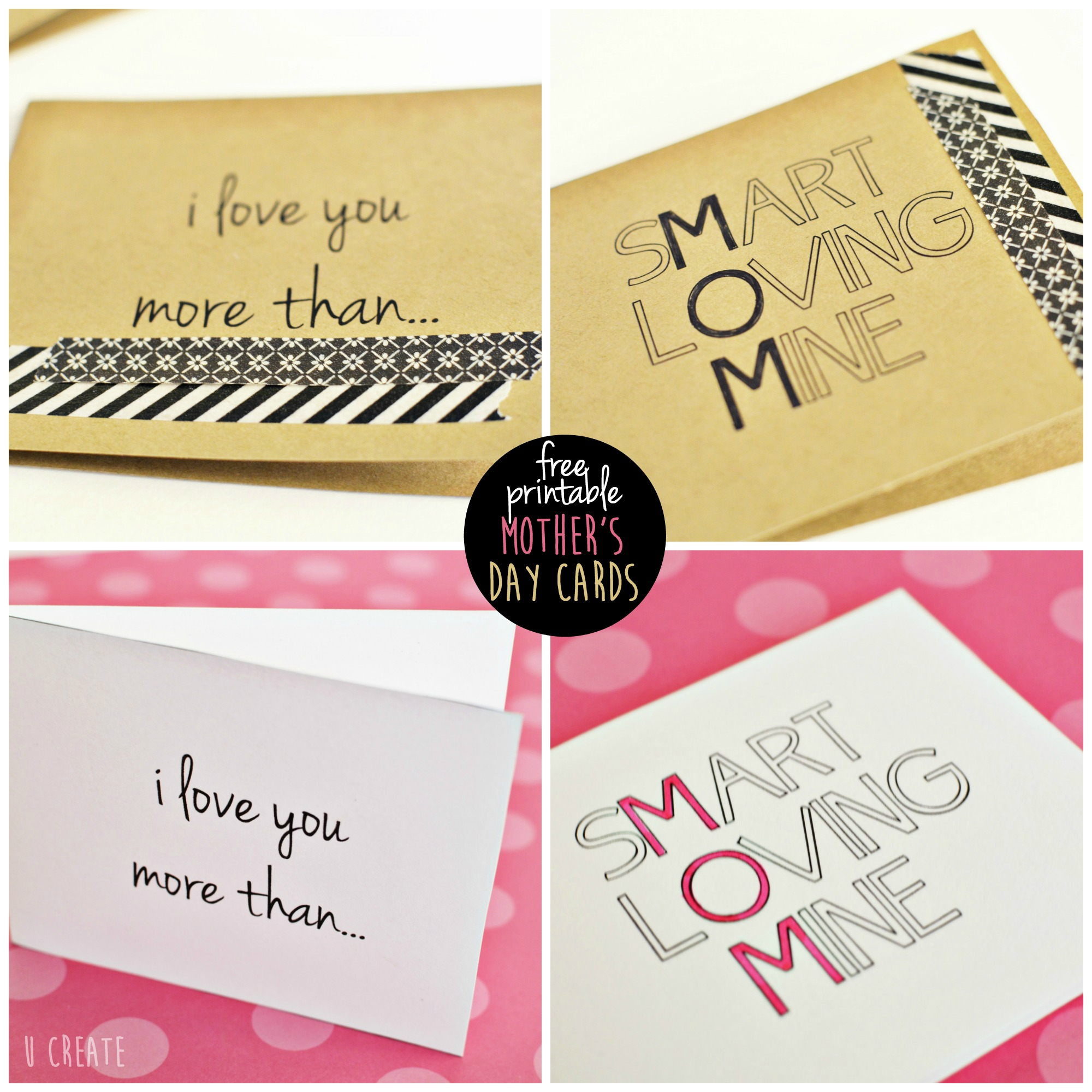 Free Printable Mother's Day Cards by U Create