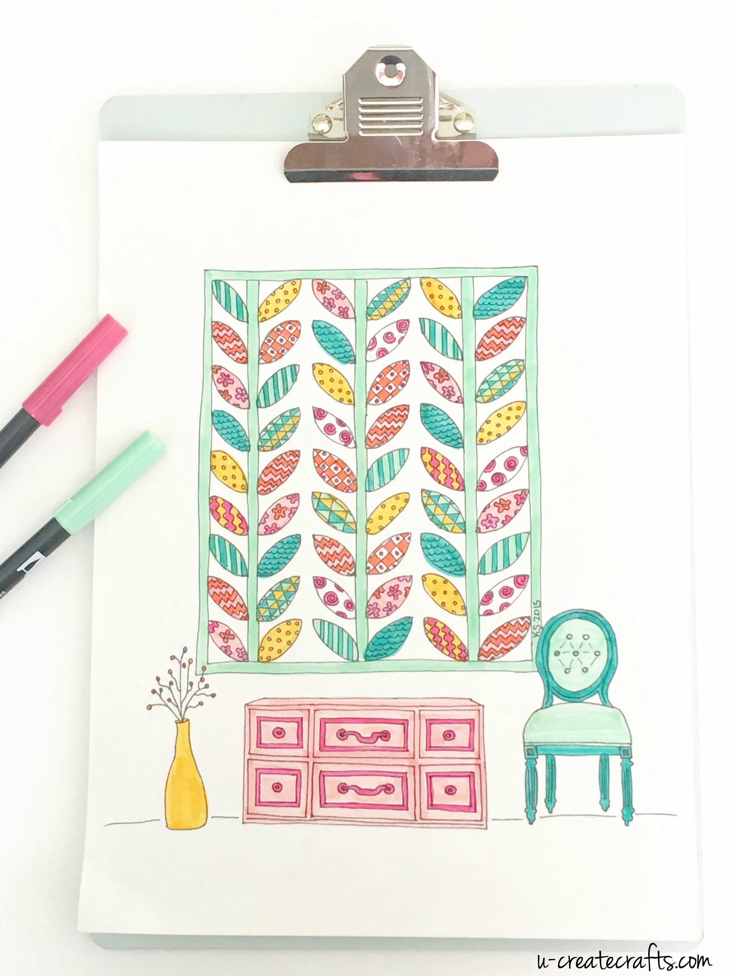 Printable quilt coloring pages - Free Quilt Printable Quilted Leaves By