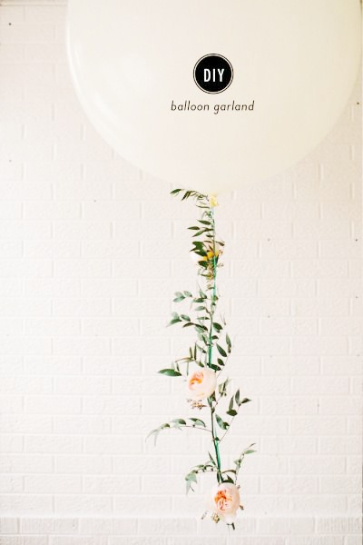 DIY Floral Balloon Garland