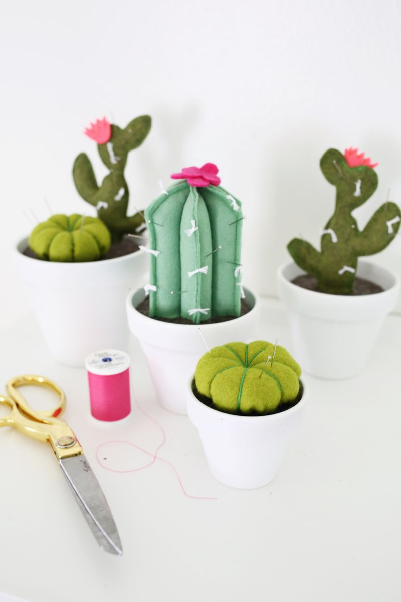 Cactus Pincushion Tutorial by A Beautiful Mess