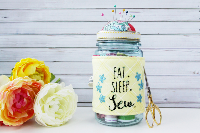 Mason jar Pincushion Tutorial