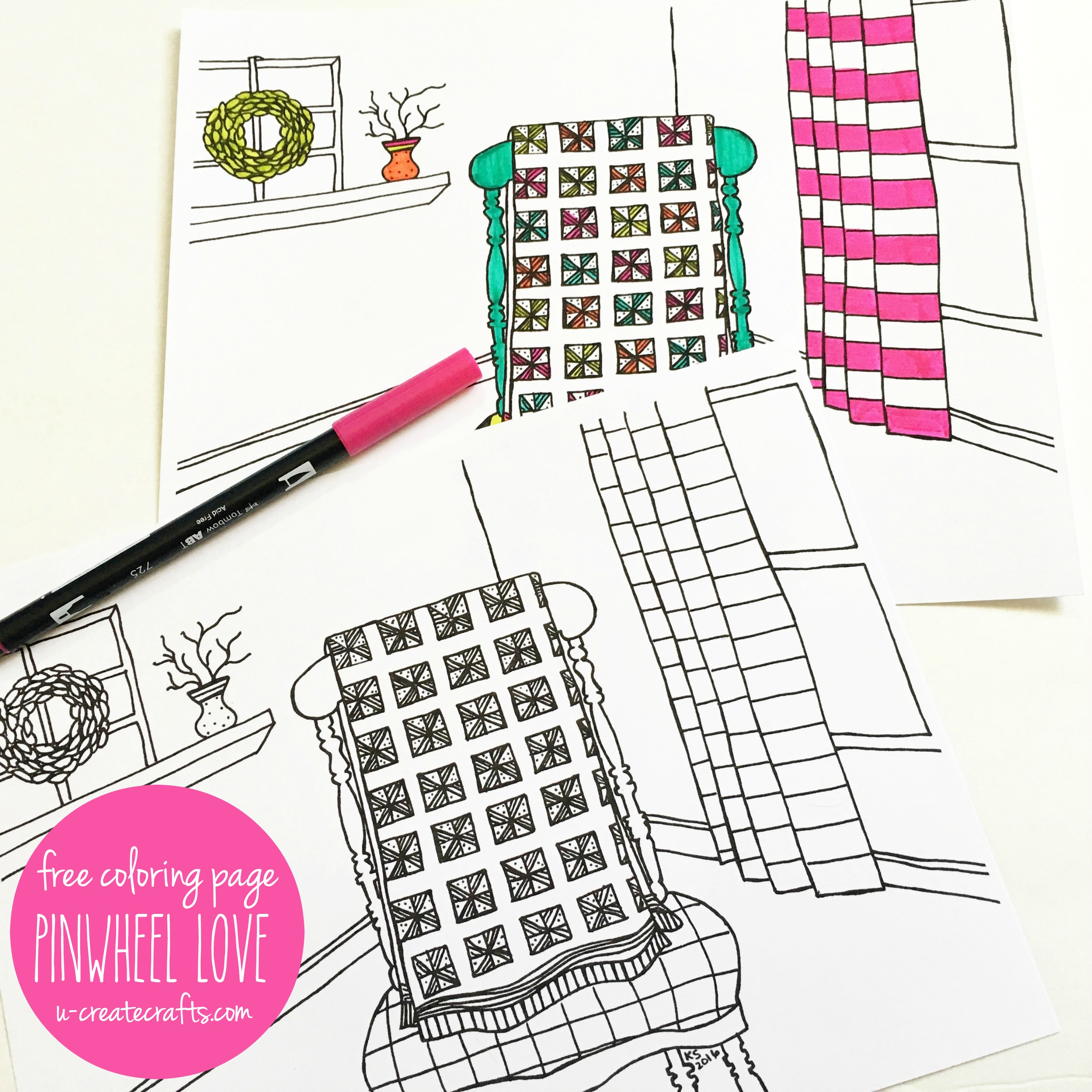 May The Fourth Be With You Coloring Pages: Quilt Coloring Page