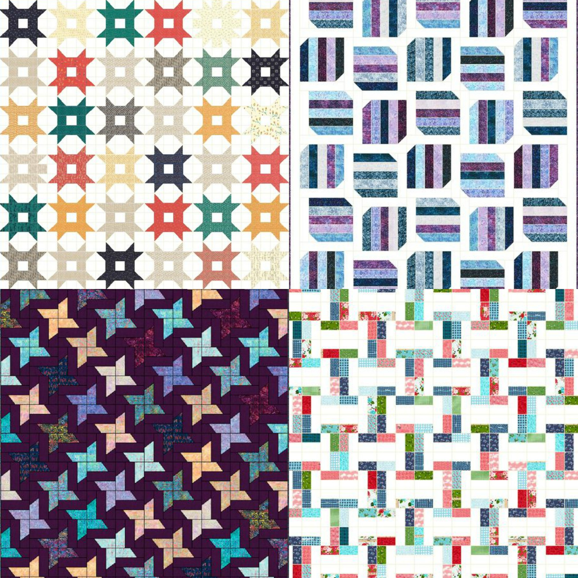 Tons of FREE jelly roll quilt tutorials