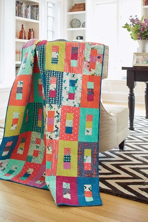 Free Jelly Roll Quilt Patterns - U Create : modern quilt tutorials - Adamdwight.com
