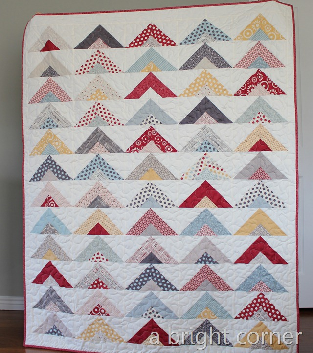 Triangle Quilt Tutorial at A Bright Corner