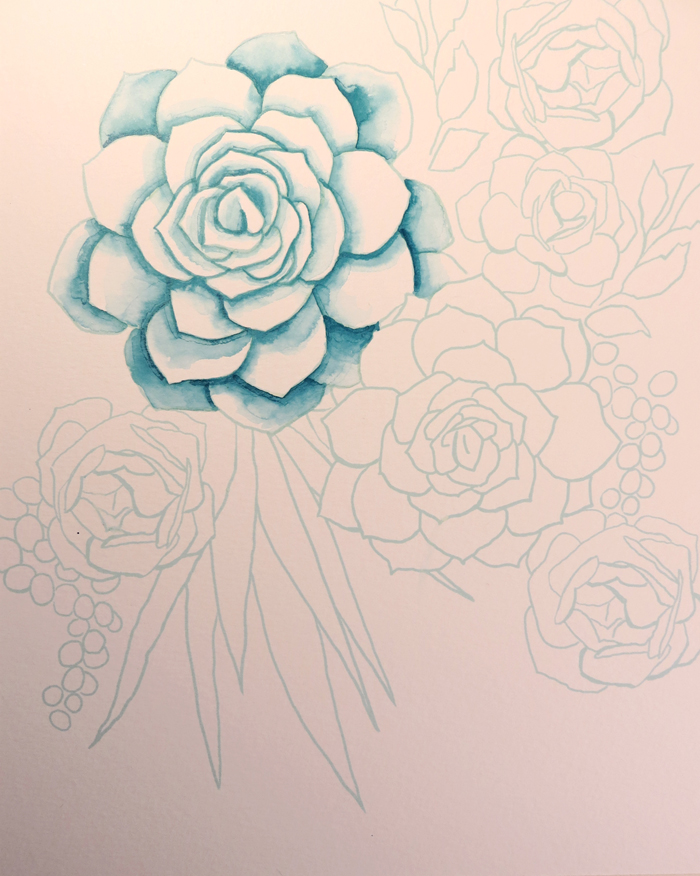 How to Make a Succulent Watercolor