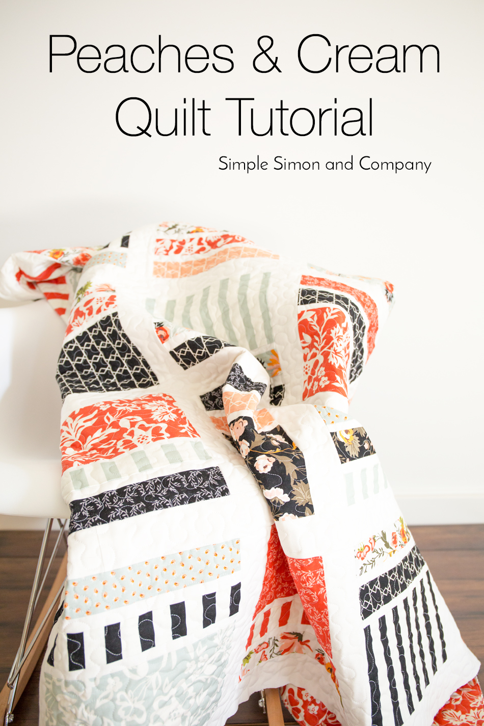 Peaches and Cream Quilt Tutorial
