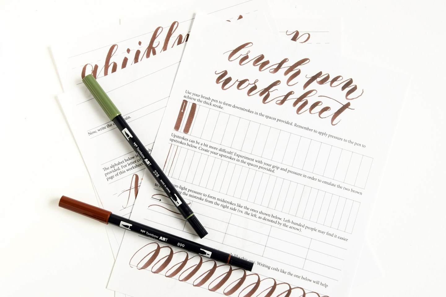 Brush Pen Worksheets