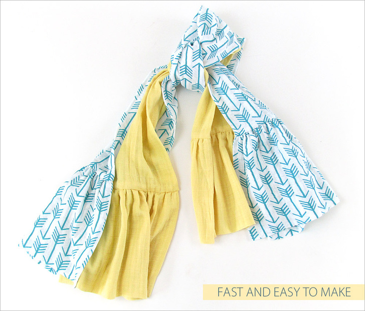 DIY Double Gauze Scarf