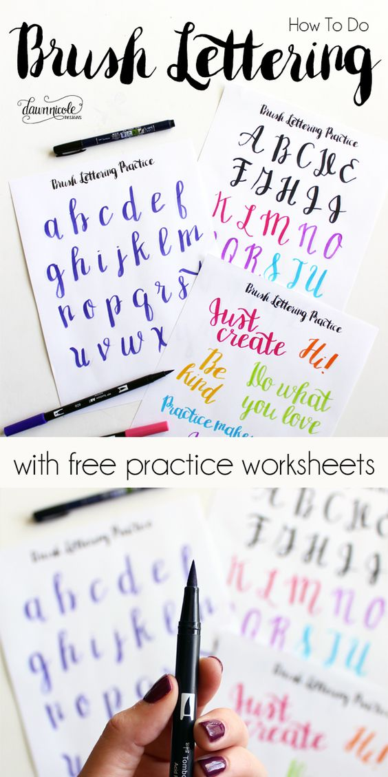 photo about Brush Lettering Practice Sheets Printable known as Absolutely free Hand Lettering Printables