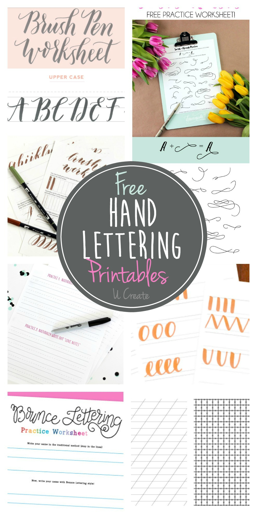 photo relating to Printable Lettering Free referred to as Cost-free Hand Lettering Printables