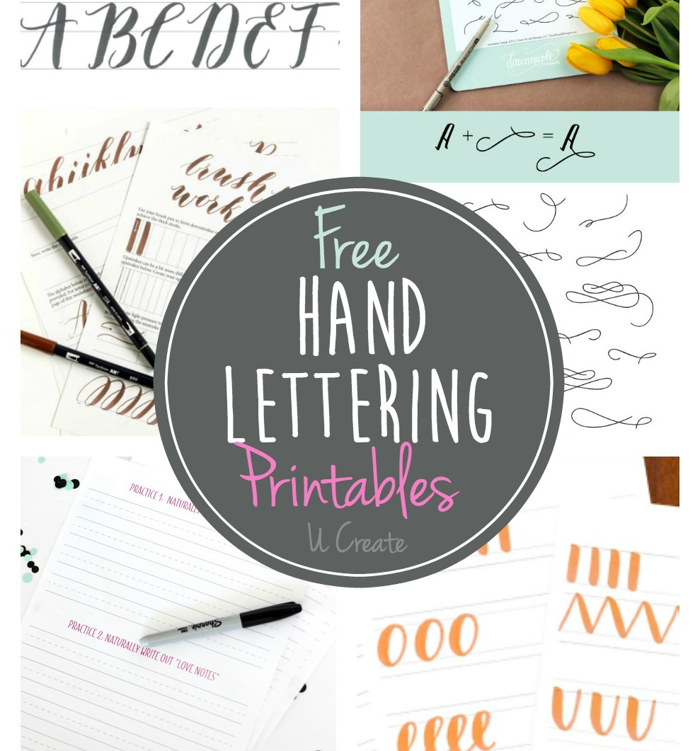 Free Hand Lettering Printables on Abc Writing Worksheets