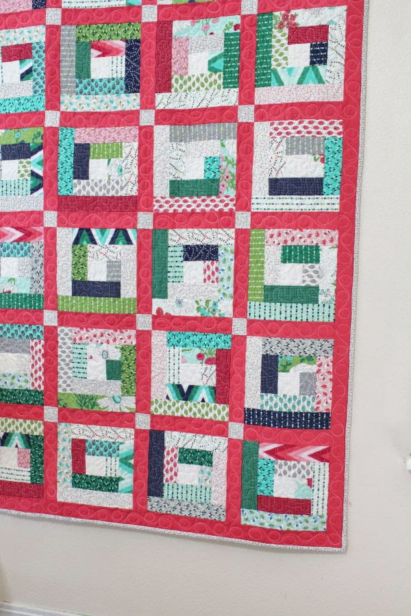 Layer Cake Log Cabin Quilt Tutorial