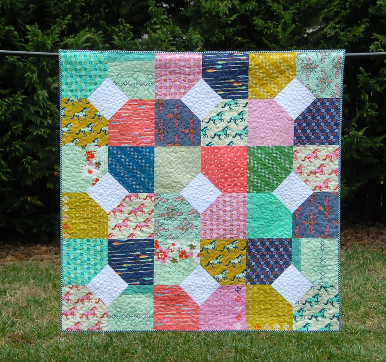 Quilt Using Layer Cake