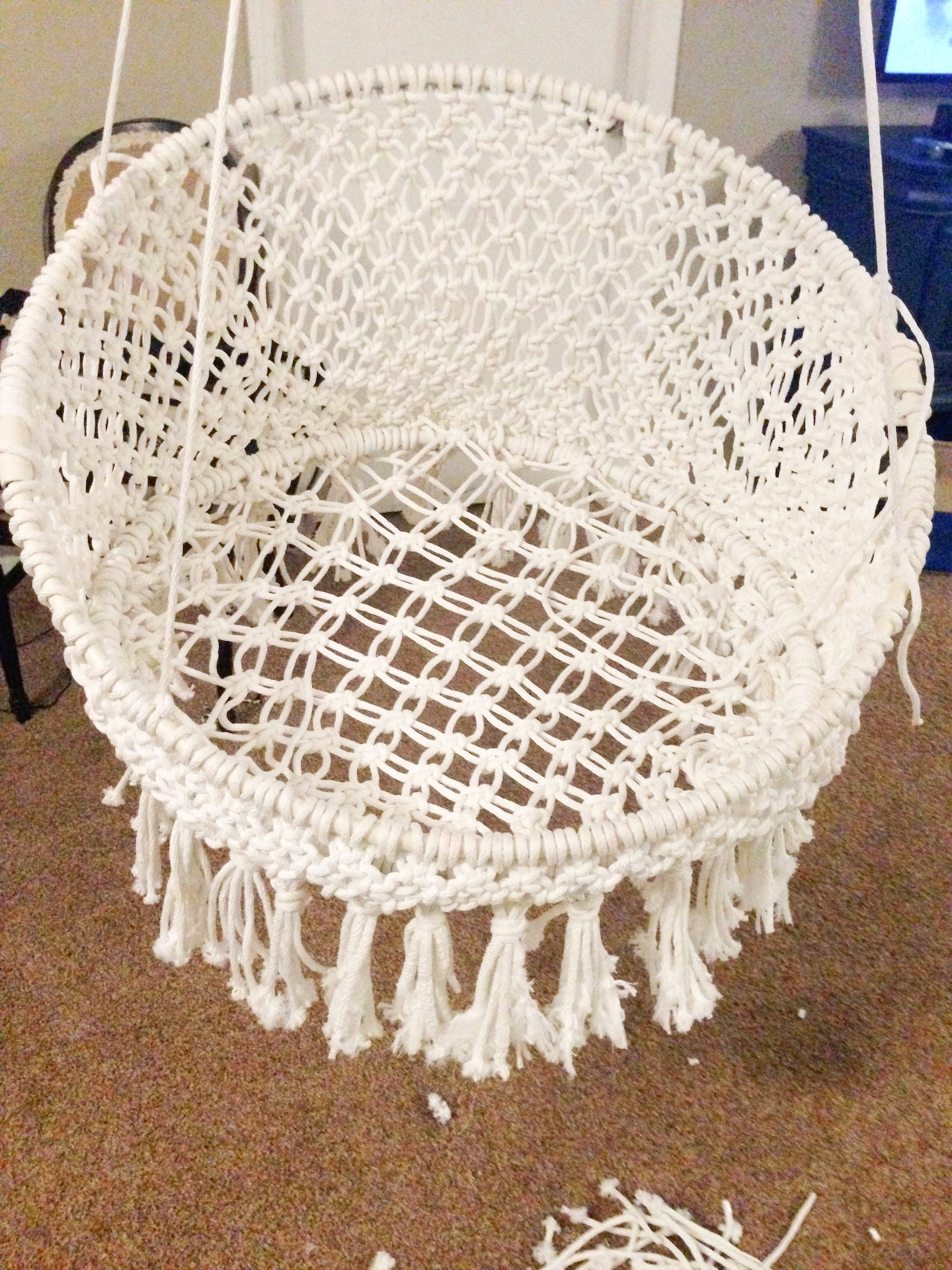 Macrame Hanging Chair and other amazing macrame tutorials!