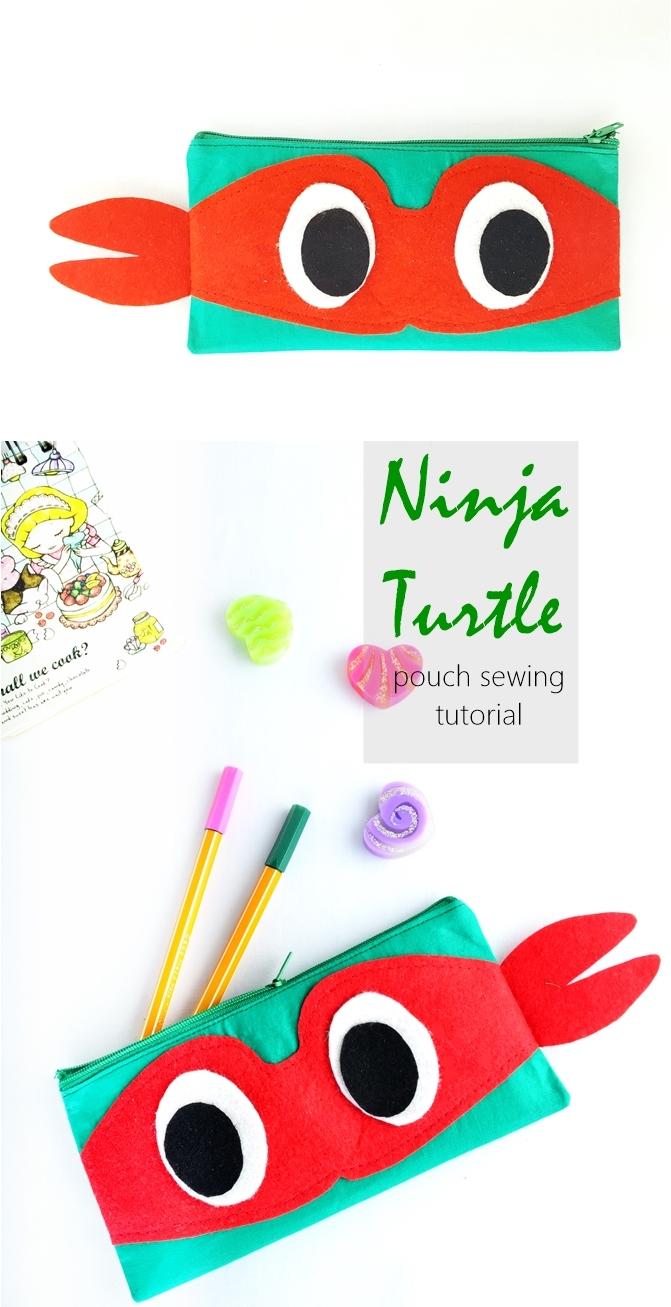 Ninja Turtle Pouch Tutorial