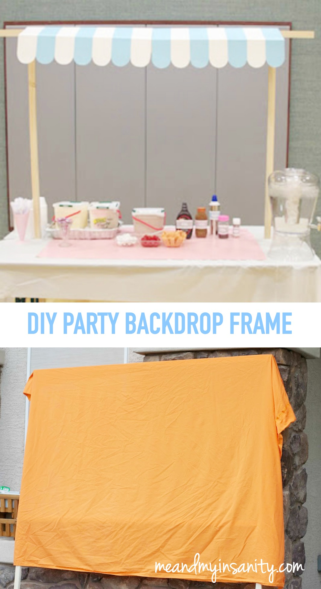 DIY Party Backdrop Frame - great for many party and events!