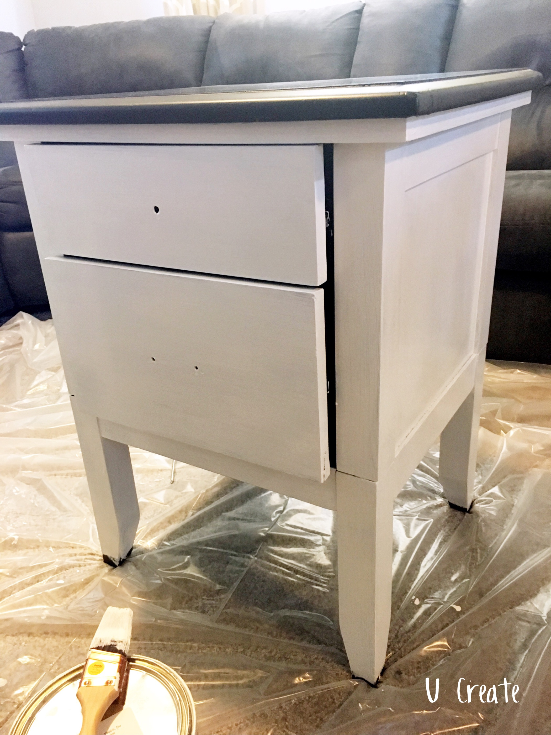 End Table Makeover Challenge by U Create