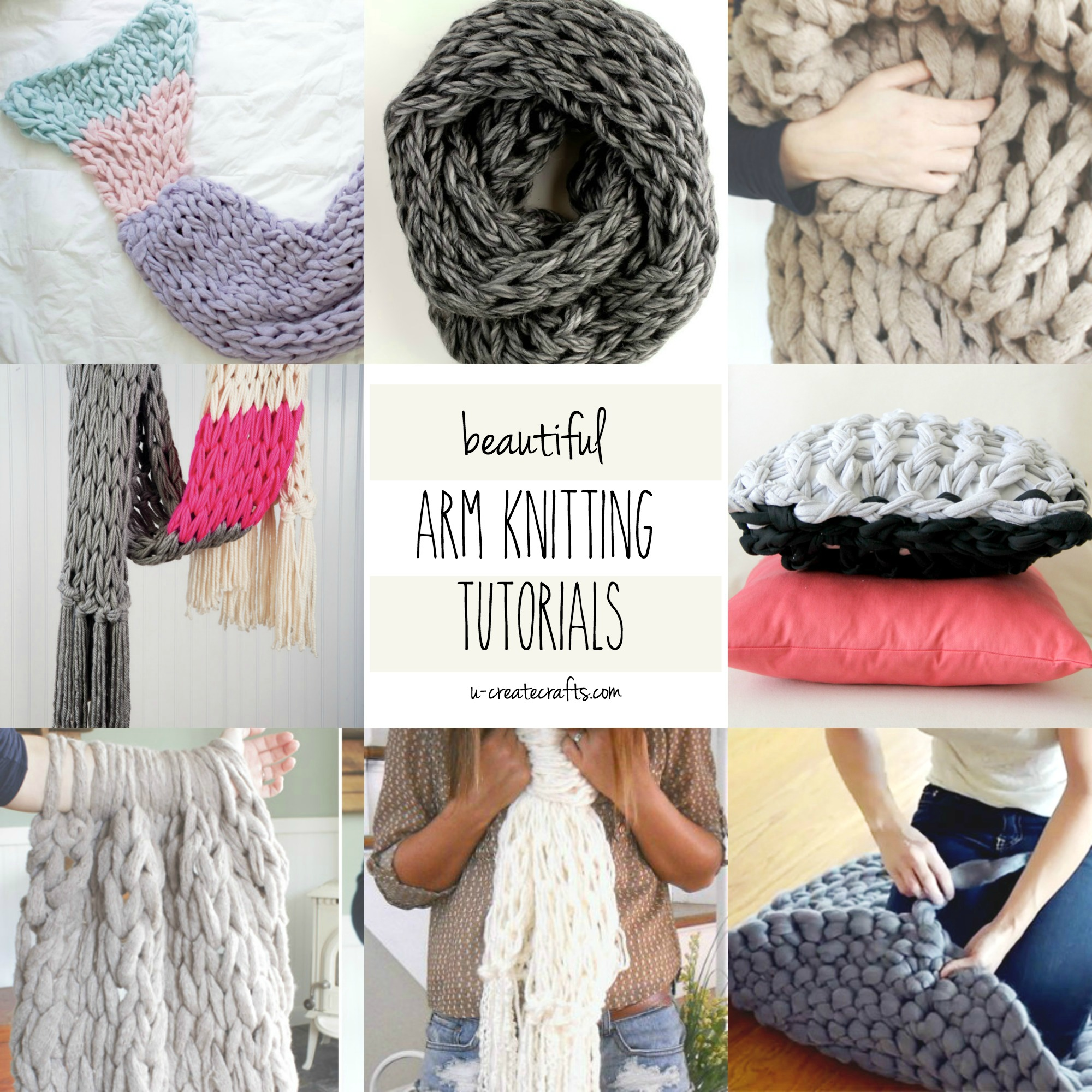 DIY Arm Knitting Tutorials