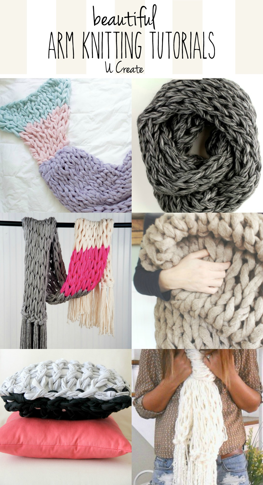 Beautiful Arm Knitting Tutorials