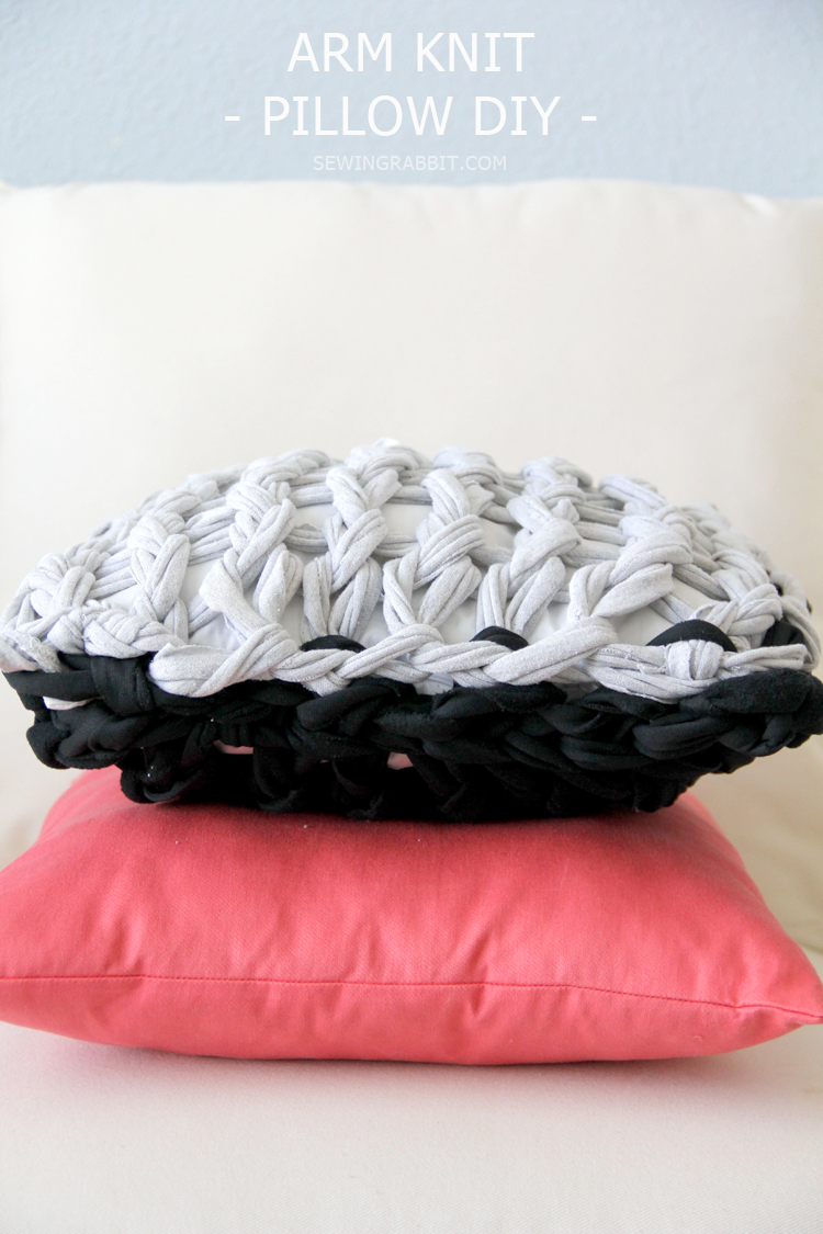 DIY Arm Knit Pillows